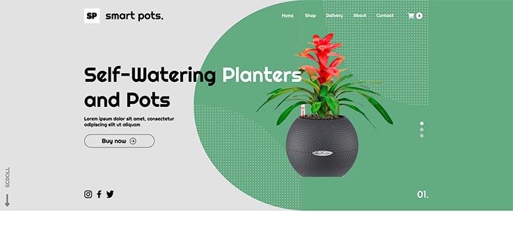 Сайт для интернет-магазина цветочных горшков